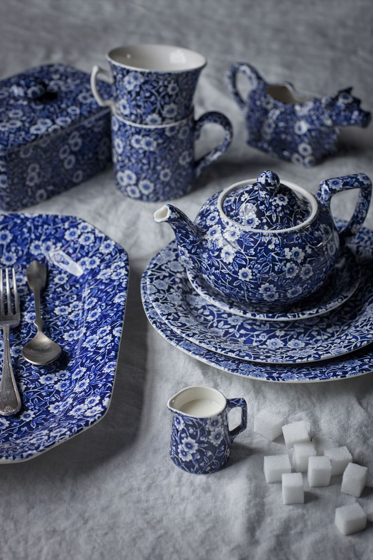 Burleigh blue Calico-got my first piece for Christmas-this may be my new china addiction...