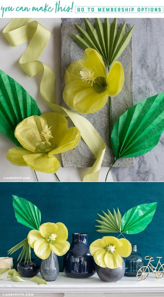 Easily Make Some Diy Tissue Paper Tropical Hibiscus Flowers Paper