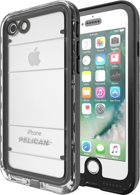 Pelican Marine Case for iPhone 7, Black/Clear
