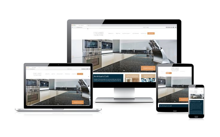 Fine Lines Tile and Stone has a sleek new website, helping them share their incredible craft with a massive audience #webdesign #onlinemarketing #responsiveweb