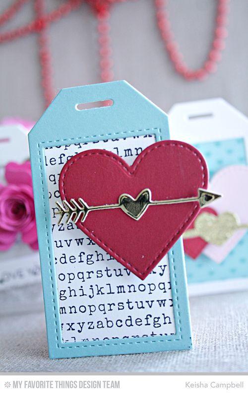 Typewriter Text Background, Stitched Heart STAX Die-namics, Tag Builder…