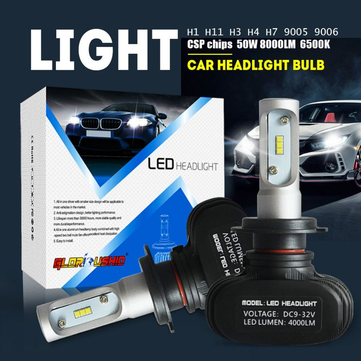 promo 2pcs h7 led h4 h11 h1 h3 9005 9006 car led headlight auto fog lamp 50w 8000lm automobile bulb #led #fog #lights