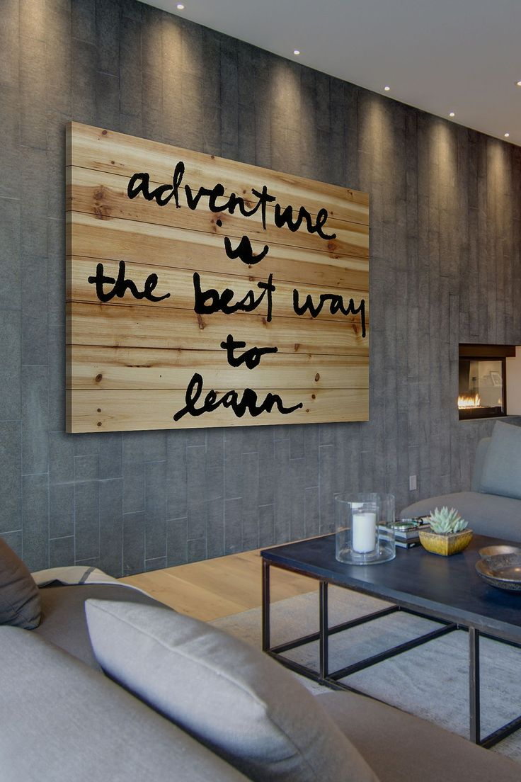 Adventure Is The Best Brown Distressed Wood Wall Art By Marmont Hill Inc.  On @