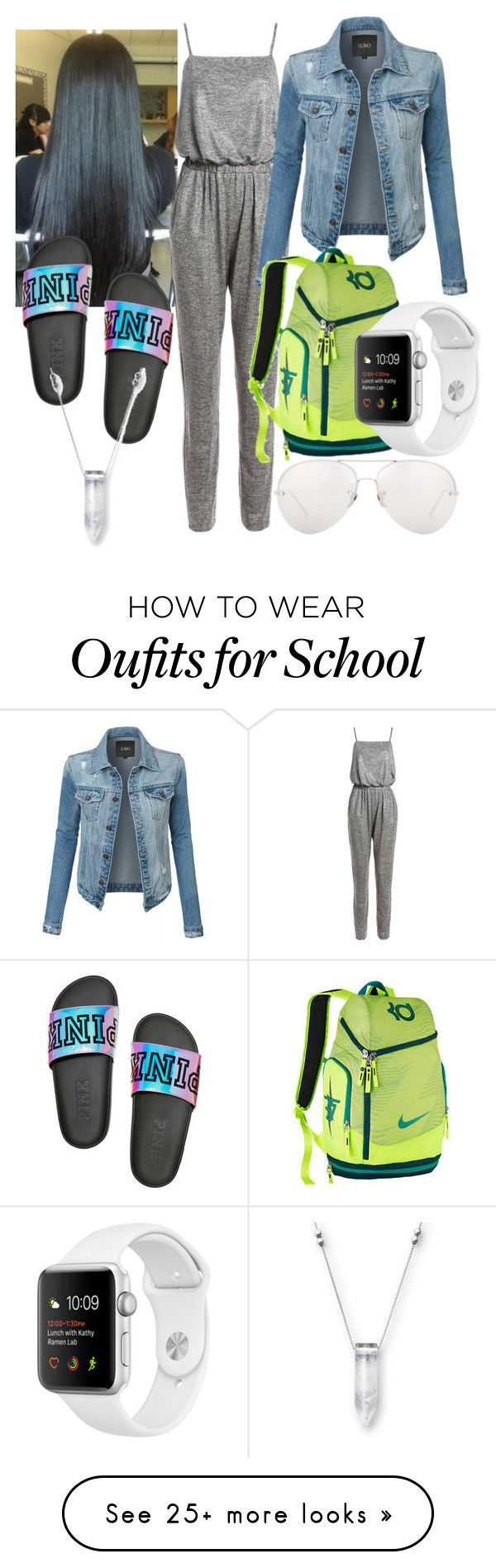 """Back To School ✏️"" by shamelessmya on Polyvore featuring Sans Souci, LE3NO and Linda Farrow"
