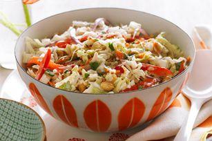 Thai Slaw Recipe - Kraft Recipes Peanut instead of cashew and add spice, extra cilantro too