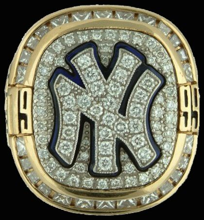 Top 15 Best World Series Rings #1 1999 yankees world series ring