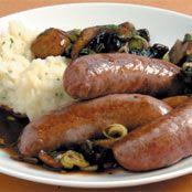 Free sausages with mushroom gravy