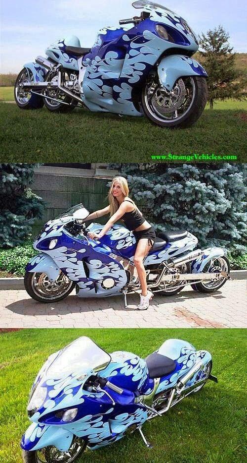 Strange motorcycle.