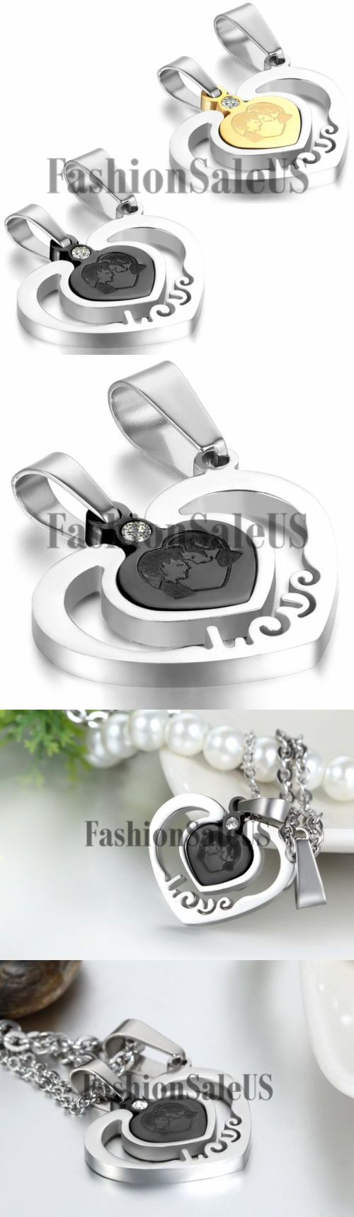 Valentine Gifts: New Couples Women Men Stainless Steel Love Heart Puzzle Necklaces Valentine Gift -> BUY IT NOW ONLY: $7.94 on eBay!