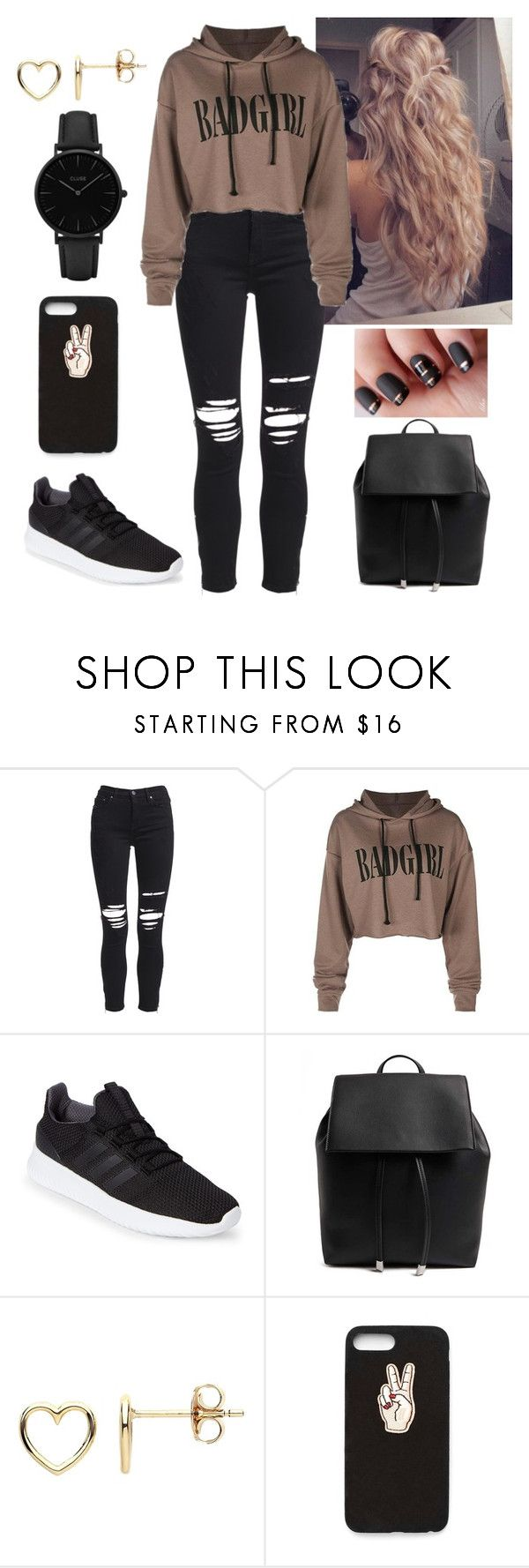 """""""Even bad girls lust for love"""" by paoladouka on Polyvore featuring AMIRI, adidas, Forever 21, Estella Bartlett, Nasty Gal and CLUSE"""