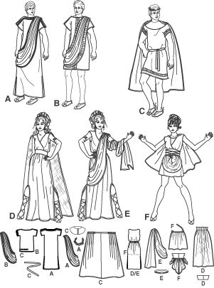 Simplicity 3647 - Costumes: Variety of Togas