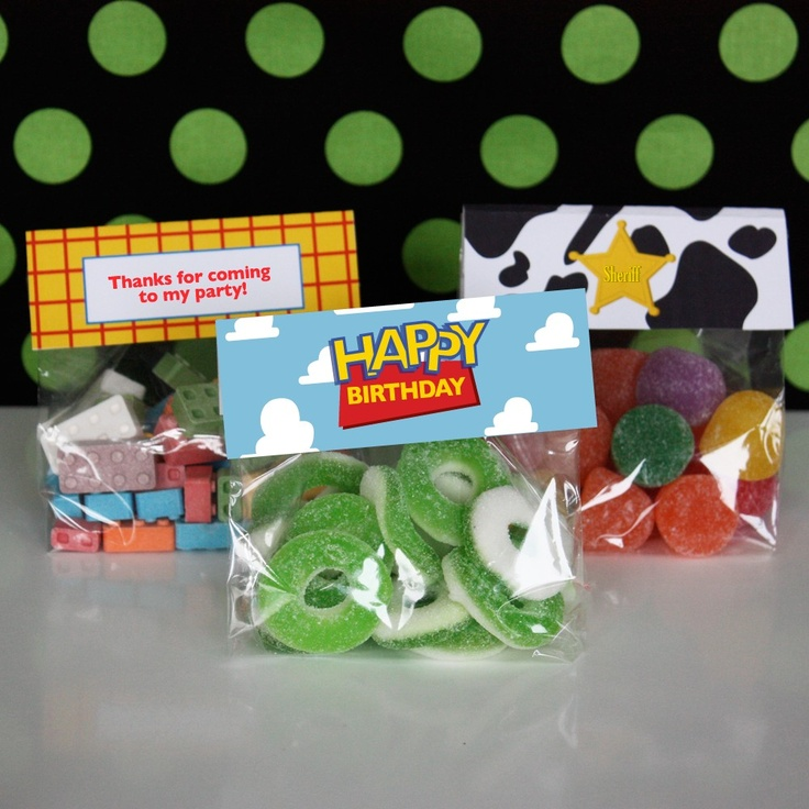 Printable Woody Toy Story Favor and Labels - Woody Toy Story Collection. $5.00, via Etsy.