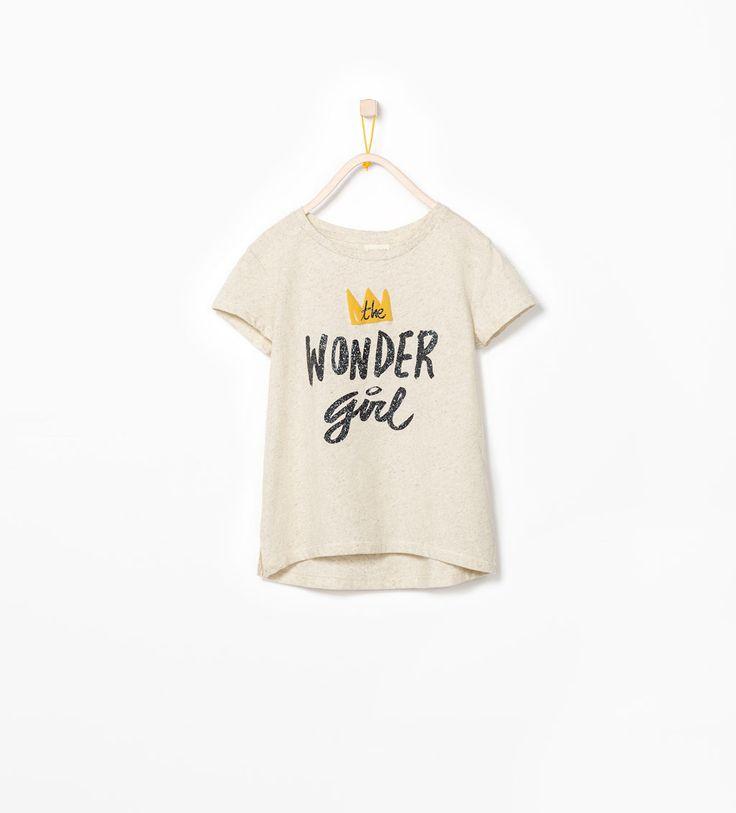 """WONDER GIRL"" T-SHIRT-T-shirts-Girl-COLLECTION SS15 | ZARA United Kingdom"