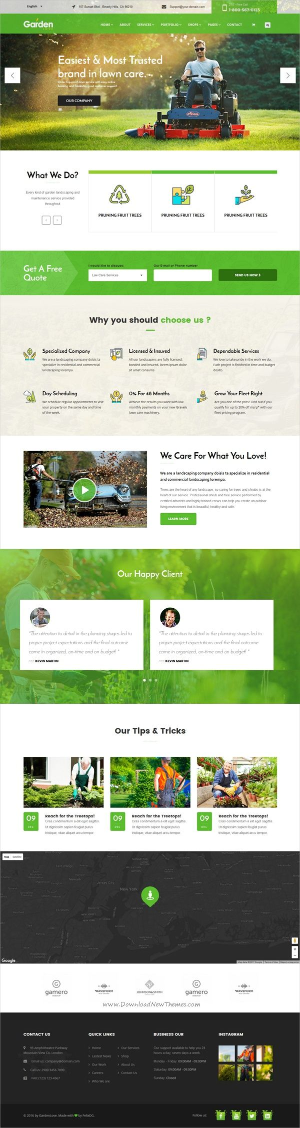 Garden love is a wonderful 3in1 responsive #HTML5 bootstrap template for #gardener, lawn services, #agriculture service websites download now➩ https://themeforest.net/item/garden-love-landscaping-gardening-html-template/19515597?ref=Datasata