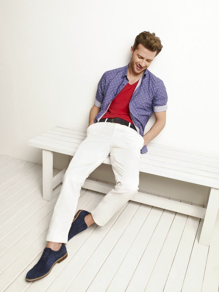 D'S Casual Spring/Summer 2014  #DsDamat #Casual #Newseason #SS2014  #mensfashion #menstyle #fashion #style  #tshirt #shirt #white #red