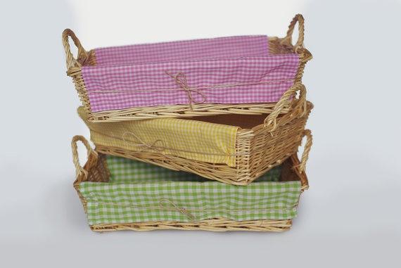 Wicker Basket by MascandFemme on Etsy, $7.35