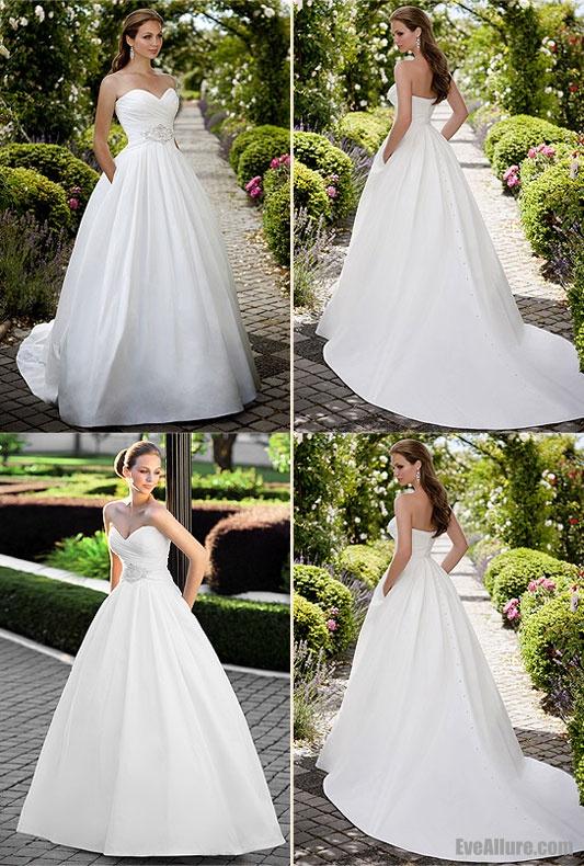 Pin by beth ann on wedding dresses pinterest for Taffeta wedding dress with pockets