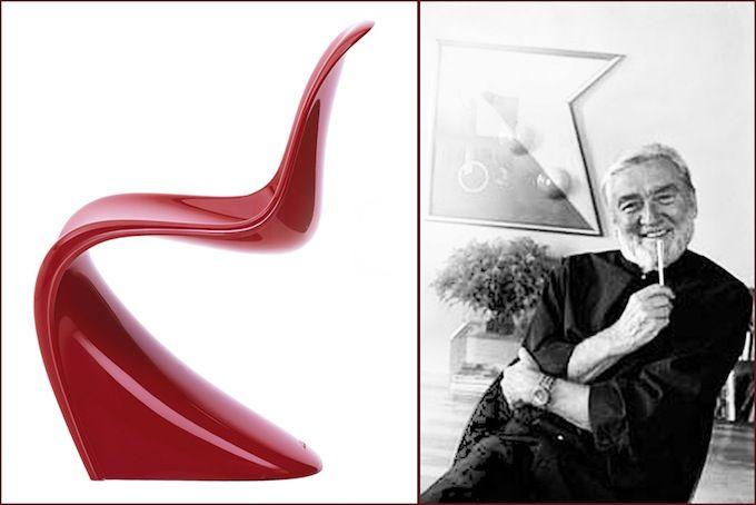 СТУЛ «PANTON»  Дизайнер: Verner Panton Производитель: Vitra   Первая партия известных стульев из-за сложностей в реализации этого экспериментального проекта была выпущена только в 1967 г., хотя датский дизайнер Вернер Пантон начал их разработку еще в 1950-х гг. Трудность заключалась в использовании революционного материала: стул Panton —  это цельный элемент из полиуретановой пены.