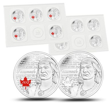 Tecumseh - 25-cent Circulation 10-pack (2012)
