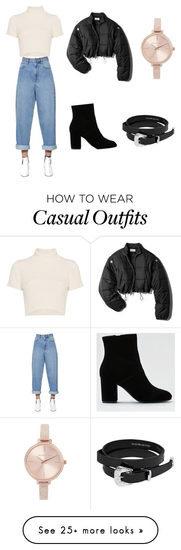 """Casual street style outfit"" by lilastrupp on Polyvore featuring Staud, Étoile Isabel Marant, American Eagle Outfitters, Dsquared2, Michael Kors and 3.1 Phillip Lim"