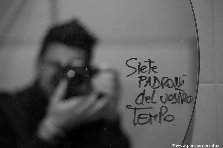 """#time #BW #mirror """"You are the boss of the your time"""""""
