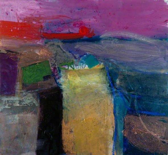 Winter Light, Lammermoor, 1997 by Barbara Rae (b.1943) Strictly speaking a landscape painter, but Rae has strong abstract sensibilities.