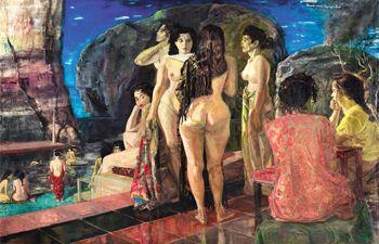 S Sudjojono - Tempat Mandi di Pinggir Laut (Seaside Bathing Place) (sold for $ 861,650).