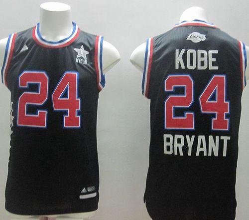 36fdb9330 2014-15 East All-Star NBA Los Angeles Lakers 24 Kobe Bryant Black