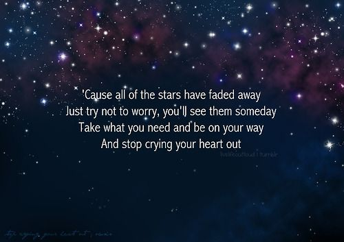 Stop Crying Your Heart Out. Original version by Oasis, cover by Leona Lewis.