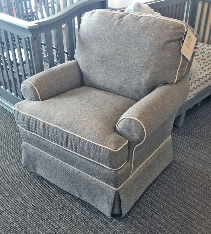 Best Chairs - Quinn Swivel Glider in Mist with White piping Stock#247234 & 14 best Glider - Rocker Gallery images on Pinterest | Best chairs ... islam-shia.org