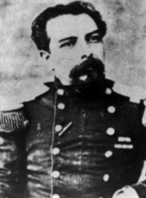 Daniel García Videla, Sargento Mayor, Segundo Comandante del Batallón Cívico Movilizado Chillán. Participa en la Batalla de Tacna