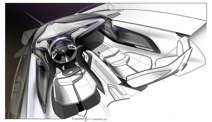 Cadillac Interior Sketch