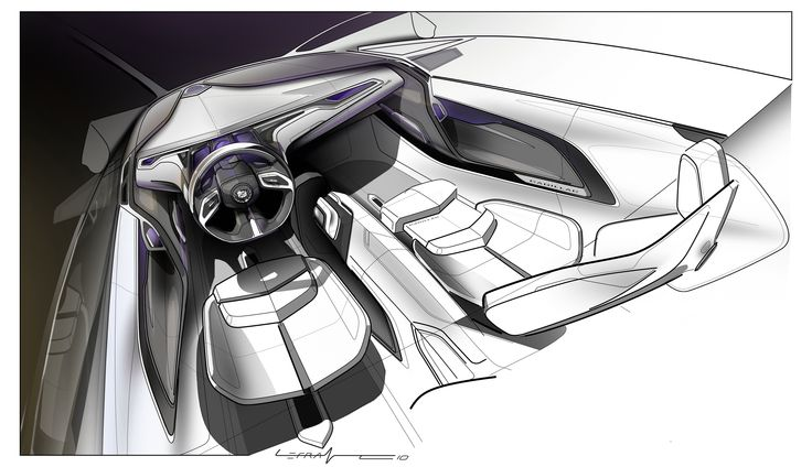 Cadillac Interior Sketch