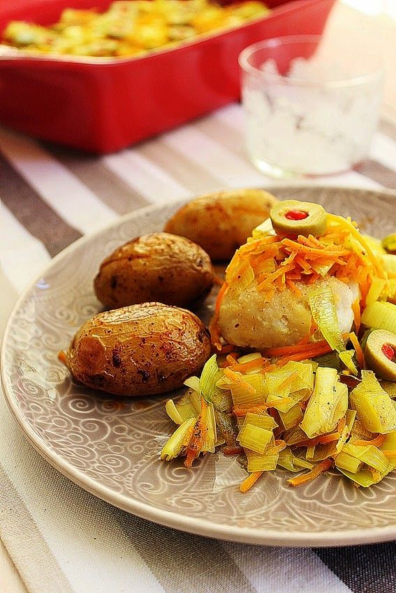 Cozinhadaduxa: Medalhões de Pescada do Cabo com Legumes e Batatin...