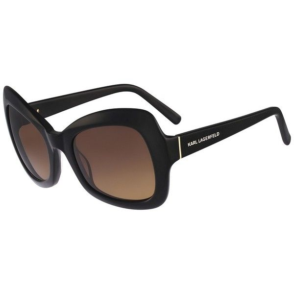 Karl Lagerfeld Women's Oversized Sunglasses ($50) ❤ liked on Polyvore featuring accessories, eyewear, sunglasses, black, karl lagerfeld, oversized sunglasses, black glasses, plastic lens glasses e karl lagerfeld glasses