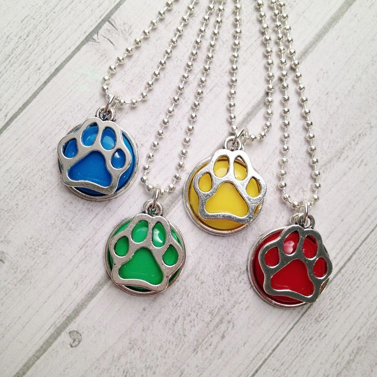 Paw Patrol Party Favor Necklaces Puppy Patrol Birthday Boy Party favors Puppy Paw necklace Party Favors by MichelleAndCompany on Etsy