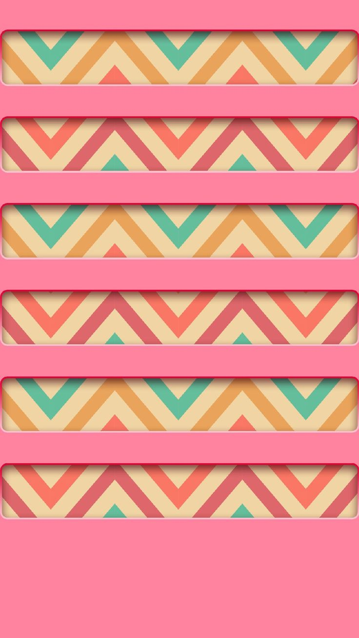 ↑↑TAP AND GET THE FREE APP! Shelves Colorful Zigzag Stripes Pink Pattern Cool Girly For Girls HD iPhone 6 plus Wallpaper