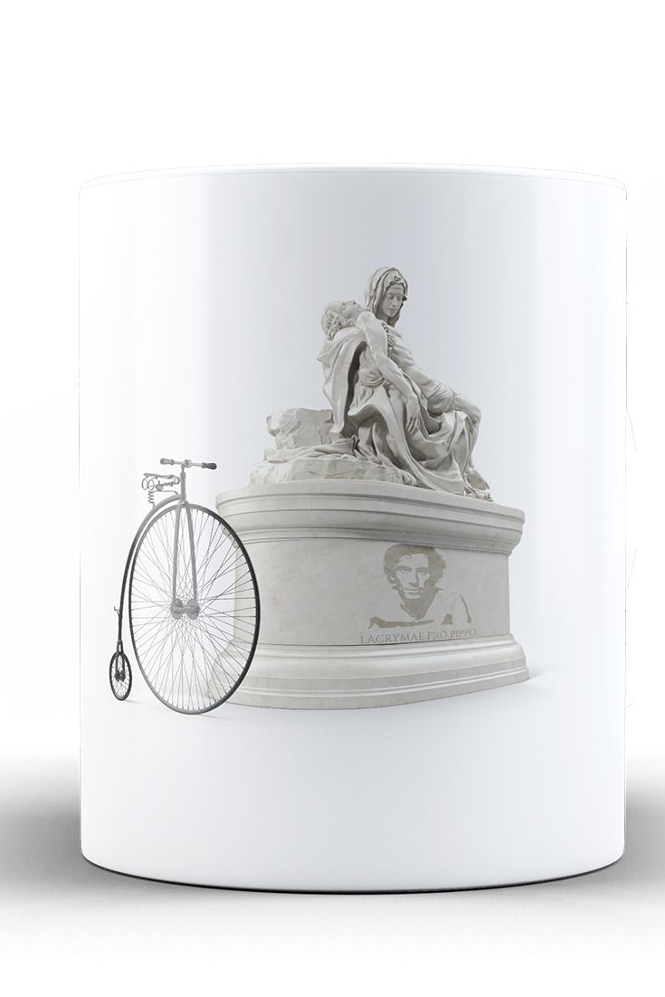 Ceramic cup with graphic theme of Pippo Pozzato. Made from the finest quality ceramics. Prints with sharp image and colours. Suitable for all Pippo´s fans, as well as tea and coffee lovers. As Wilier Triestina has not been invited to some spring classics, cycling world's shedding tears for Pippo Pozzato.   ....for man who must stay at home...again.