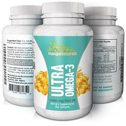 Ultra Omega 3 Fish Oil Soft Gel Caps Naturally Purified Fish Oil 1000mg Per Serving Best Omega 3 Supplement – Fully Guaranteed By Manganaturals