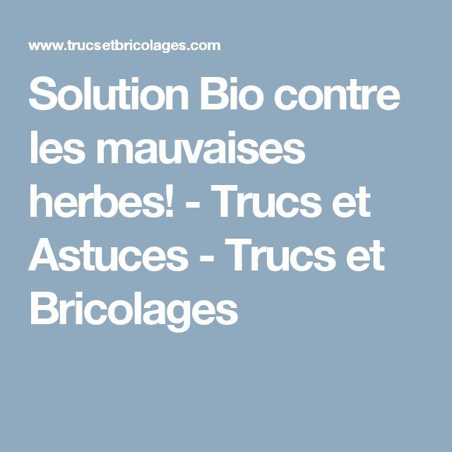 Solution Bio contre les mauvaises herbes! - Trucs et Astuces - Trucs et Bricolages
