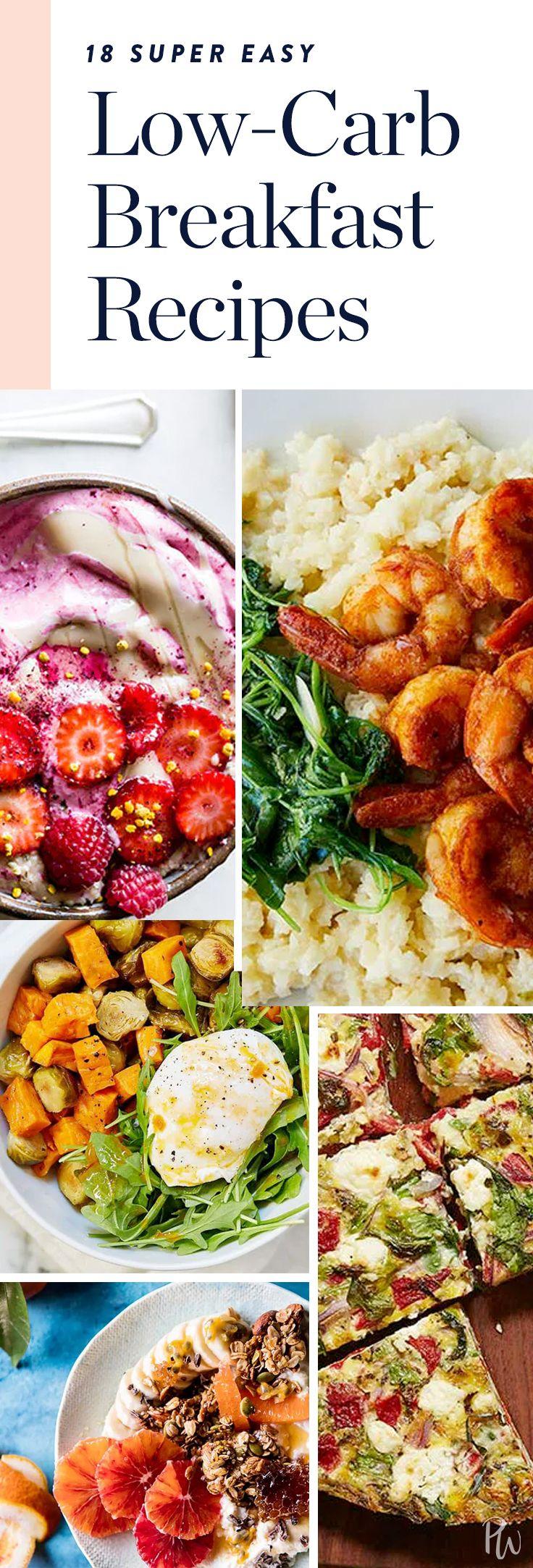 18 Ridiculously Easy Low-Carb Breakfast Recipes  via @PureWow via @PureWow