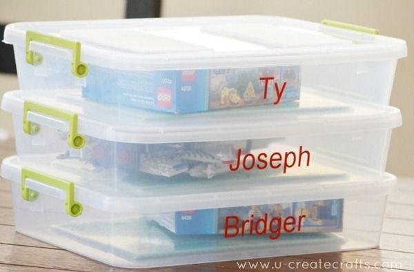 DIY To Go Lego Box and Storage