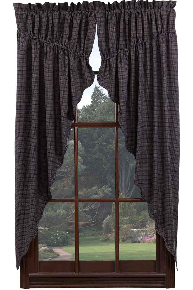 Plaid Kitchen Curtains Valances 17 Best Images About Primitive Curtains On Pinterest Window