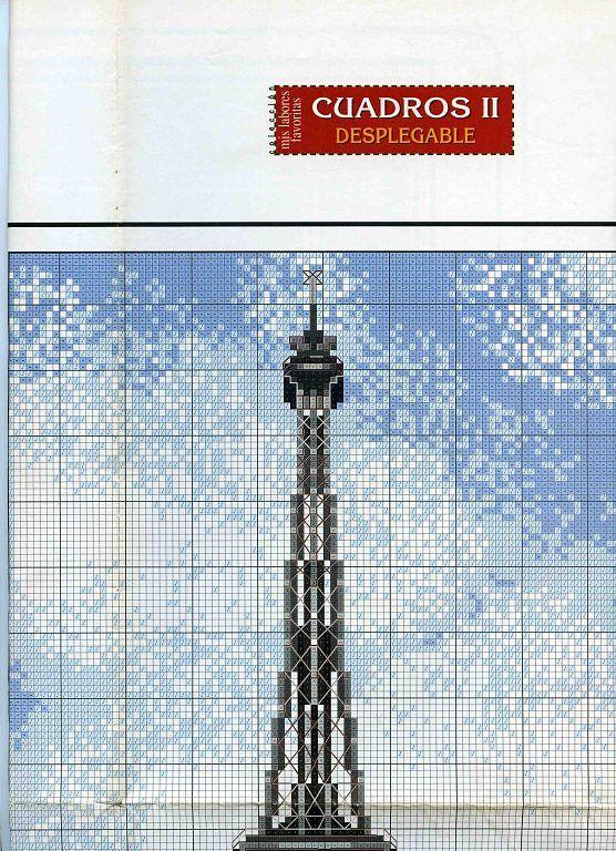 Gratis mønstre og ordninger: Eiffeltårnet
