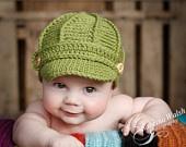 PDF Newsboy Hat PATTERN Baby Newsboy Hat by JojosBootique. $5.00 USD, via Etsy.