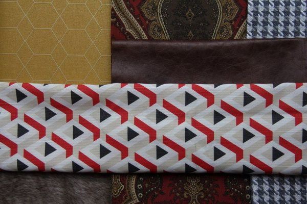Gentle Geometry: Attuned to modernity, architecture and design, honeycomb, prisms, hounds tooth, 3D geometrics as well as quirky prints. Textures are quilted, button padded and structured. www.hertex.co.za