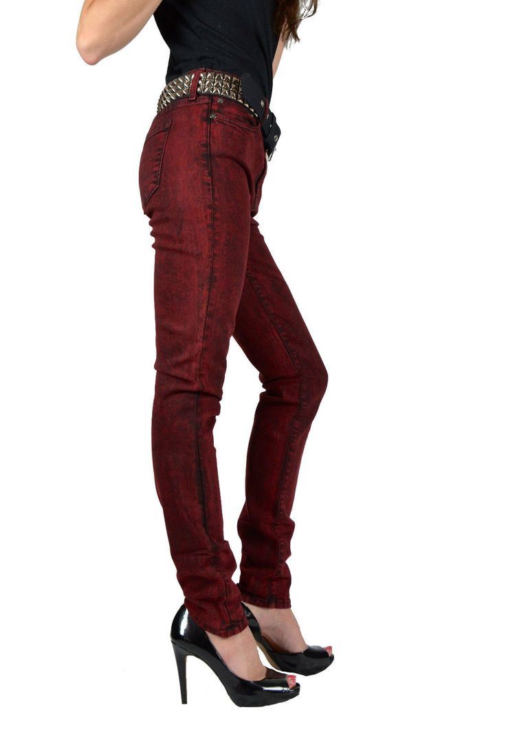 Kill City Lip Service Gothic Hi Waist Stretch Mineral Wash Skinny Jeans Pants