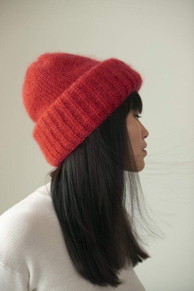 Samuji Chunky beanie, in limited edition red