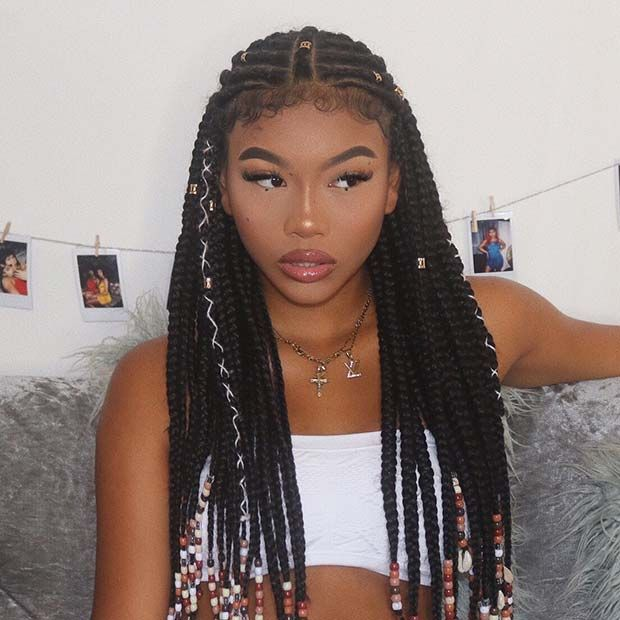 45 Hot Fulani Braids To Copy This Summer Page 4 Of 4 Stayglam African Braids Hairstyles Girls Hairstyles Braids Black Girl Braided Hairstyles