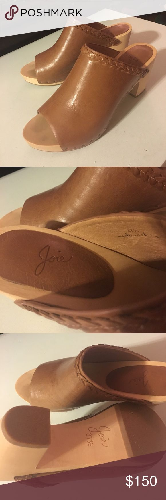 Joie leather braided clogs Light brown mule clogs with braided detail. Never worn. Size 37.5. Joie Shoes Mules & Clogs